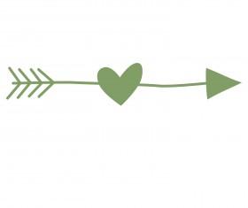 Romantic love ornaments elements set vector 14
