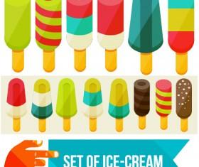 Set of Ice cream vector material 02