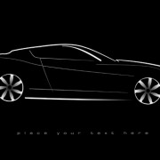 Shiny car black background design vector 02