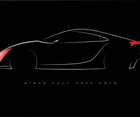 Shiny car black background design vector 03