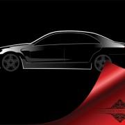 Shiny car black background design vector 04