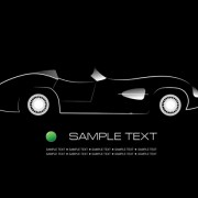 Shiny car black background design vector 05