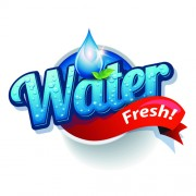 Link toShiny fresh water labels vector