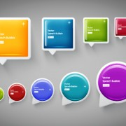 Link toShiny textured speech bubbles colored vector