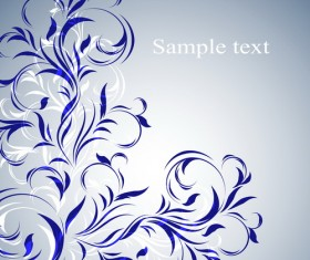Simple floral decorative pattern vector background 01