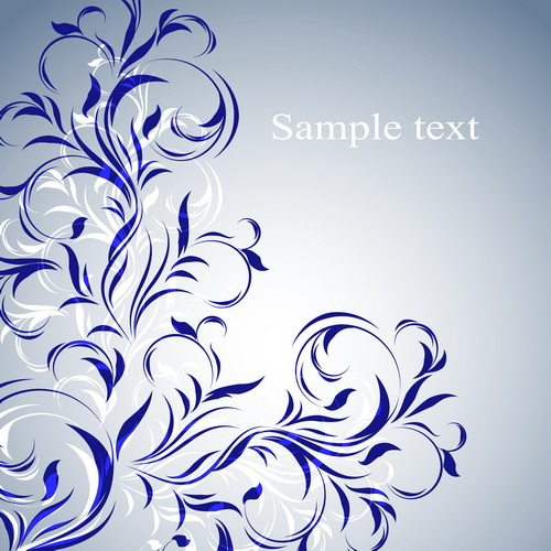 Simple floral decorative pattern vector background 01 free ...