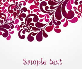 Simple floral decorative pattern vector background 03