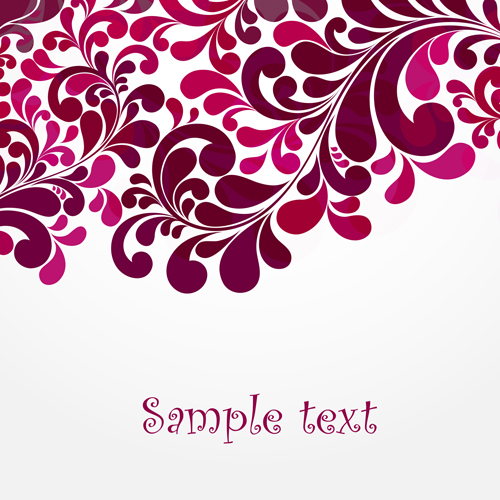 Simple floral decorative pattern vector background 03 ...