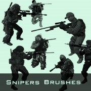 Snipers photoshop brushes