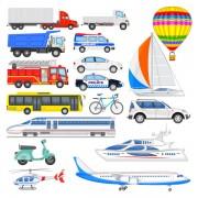 Link toSorts transport tool set vector