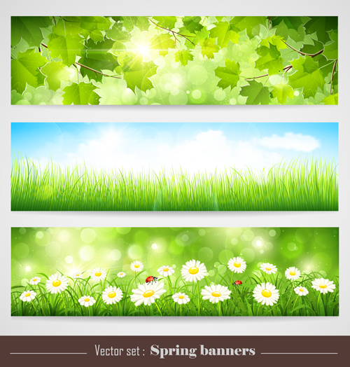 spring natural banners vector set 01 over millions Ringing Bell Clip Art Christmas Clipart