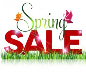 Spring sale design graphics vector