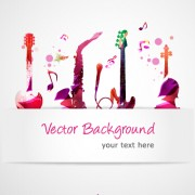 Link toStylish colorful music vector background graphics 05