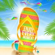 Summer holidays seaside travel background material 02