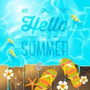 Summer holidays seaside travel background material 03