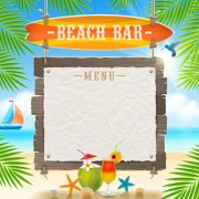 Summer holidays seaside travel background material 04