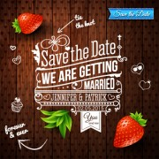 Link toSummer style wedding invitation background vector 02
