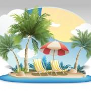 Link toSummer tropical island travel background vector 06