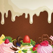 Link toSweet with drop chocolate background set vector 06