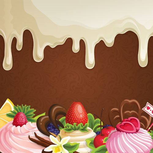 Sweet with drop chocolate background set vector 06 vector sweet with drop chocolate background set vector 06 voltagebd Choice Image