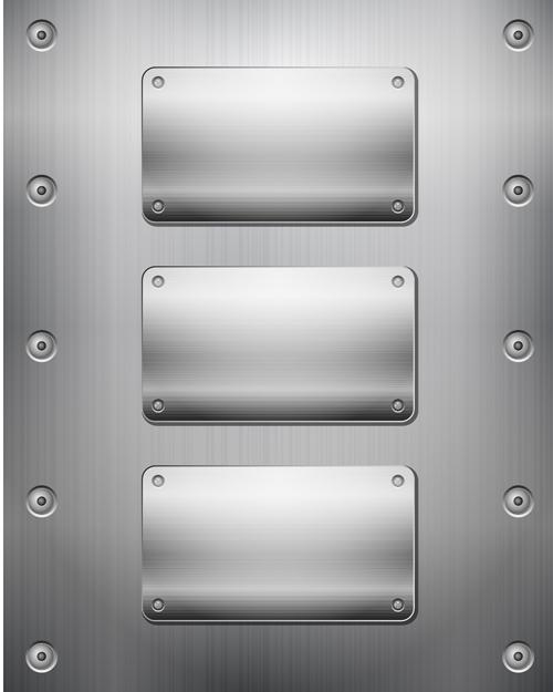 Textured metal button vector graphics