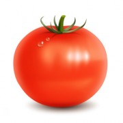 Tomato with water drop psd material