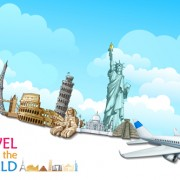 Link toTravel around the world creative vector material 05