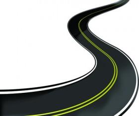 Various asphalt roads vector material 05
