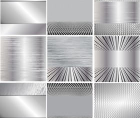 Various metal style background set vector 04
