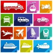 Link toVarious transport icons set vector 02