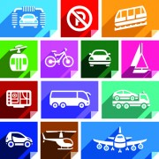 Link toVarious transport icons set vector 03