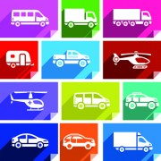 Link toVarious transport icons set vector 04