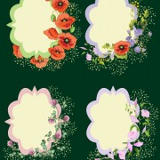Link toVector cute flower card set