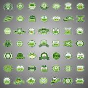 Link toVector ecology labels design graphic set 03