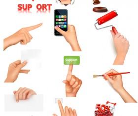 Vector set of hand gestures design graphics 02