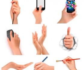 Vector set of hand gestures design graphics 04