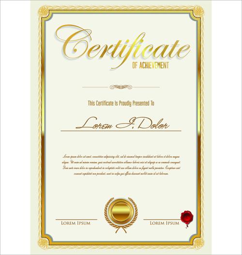 Vector Template Certificates Design Graphics 02 Free Download