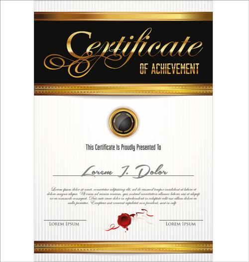 vector template certificates design graphics 06 free download