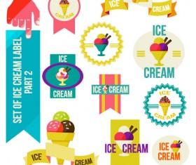 Vintage Ice cream vector labels 02