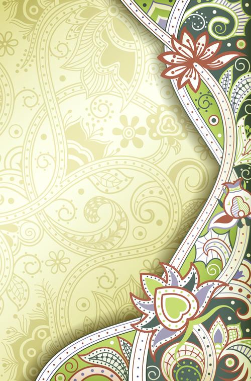 Vintage decorative pattern background graphics vector 01