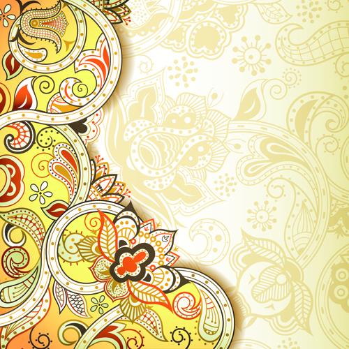 Vintage decorative pattern background graphics vector 02