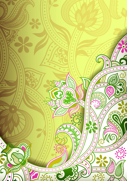 Vintage decorative pattern background graphics vector 04