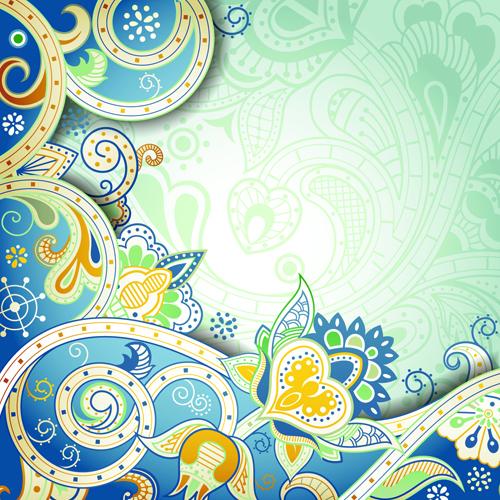 vintage decorative pattern background graphics vector 05 free download