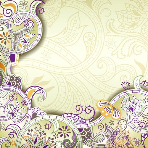 Vintage decorative pattern background graphics vector 06