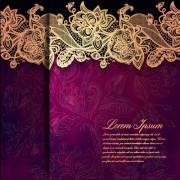 Link toVintage lace ornate background vector material 04