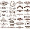 Vintage ribbons labels design graphics