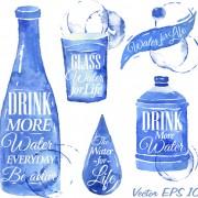 Link toWater design elements watercolor vector