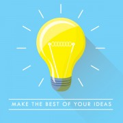 Link toYellow bulb free background vector