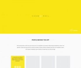 Yellow style website template creative design