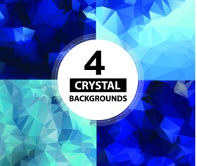crystal object background vector 02